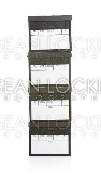Boxes: Stack of Office File Boxes Stock Photography Content by Sean Locke