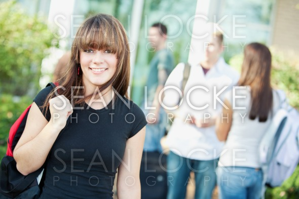 College: Cute Student Smiling Stock Photography Content by Sean Locke