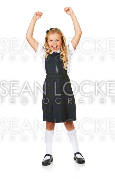 Student: Girl Cheering For Education Stock Photography Content by Sean Locke