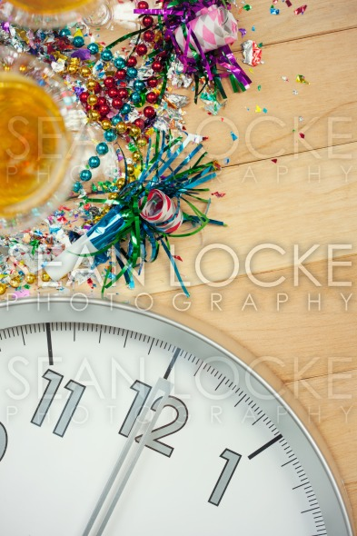 New Year's: Midnight Party Celebration Background Stock Photography Content by Sean Locke