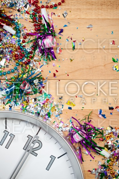 New Year's: Midnight Celebration Party Background Stock Photography Content by Sean Locke