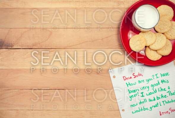 Christmas: Cookies and Letter to Santa Stock Photography Content by Sean Locke
