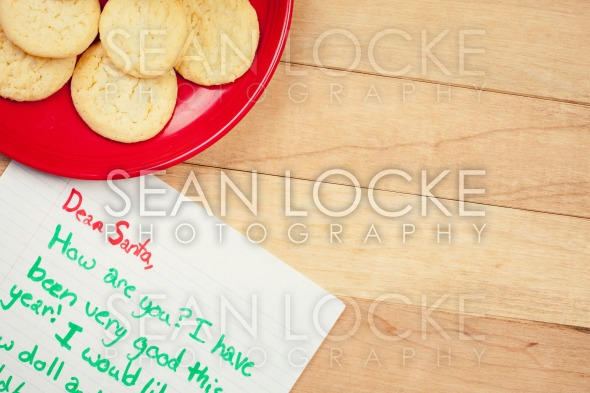 Christmas: Cookies for Santa and Wish List Stock Photography Content by Sean Locke