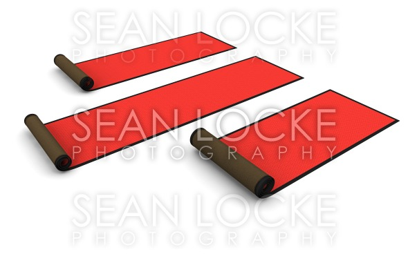 3d: Rolled Red Carpet Stock Photography Content by Sean Locke