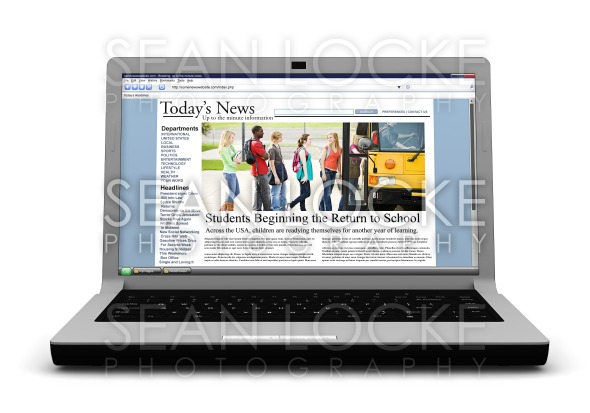 3d: News Story on Laptop: Back to School Stock Photography Content by Sean Locke