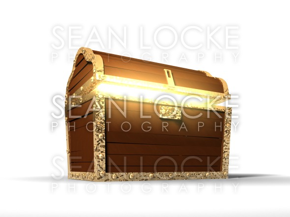3d: Glowing Treasure Chest Stock Photography Content by Sean Locke