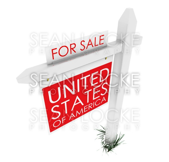 3d: Real Estate Sign: USA for Sale Stock Photography Content by Sean Locke