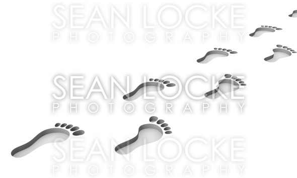3d: Footprints in the Ground Stock Photography Content by Sean Locke