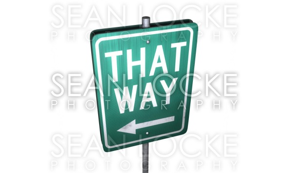 3d: That Way Sign Stock Photography Content by Sean Locke