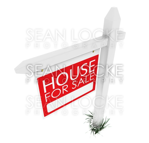 3d: Real Estate Sign: House for Sale Stock Photography Content by Sean Locke