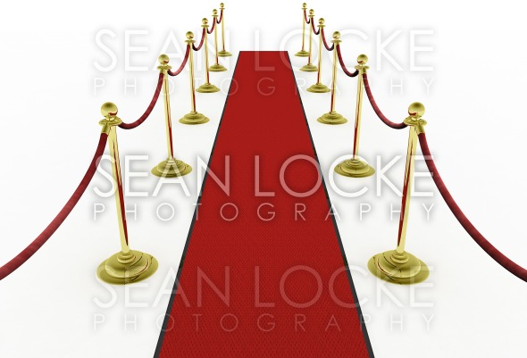 3d: Red Carpet with Stanchions for Movie Premiere Stock Photography Content by Sean Locke