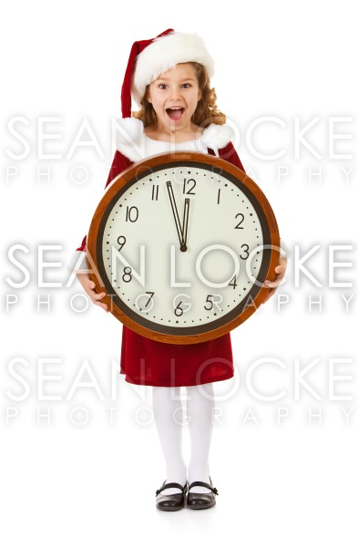 Christmas: Santa Girl Excited About Christmas Coming Stock Photography Content by Sean Locke