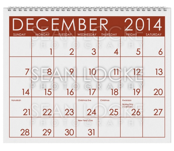 2014 Calendar: December Stock Photography Content by Sean Locke