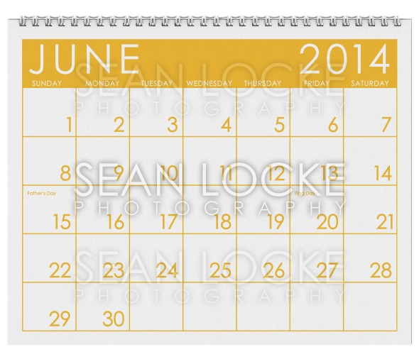 2014 Calendar: June Stock Photography Content by Sean Locke