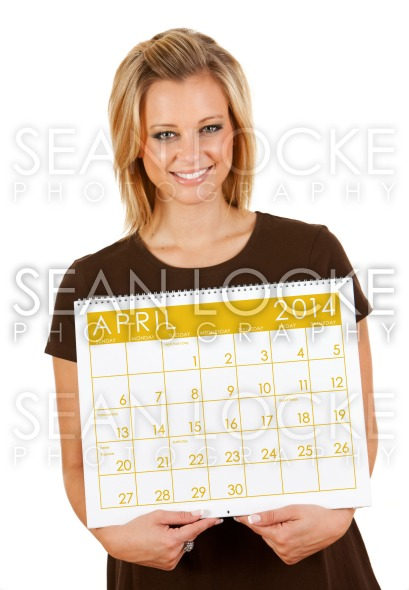 2014 Calendar: Holding Blank April Calendar Stock Photography Content by Sean Locke