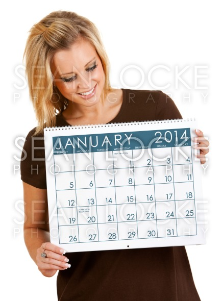 2014 Calendar: Holding A January Calendar Stock Photography Content by Sean Locke