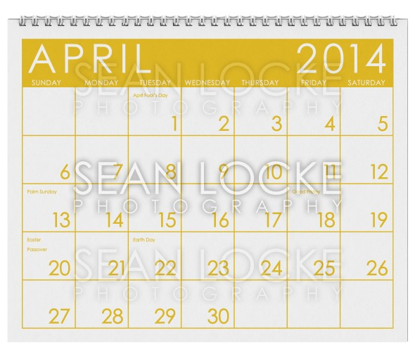 2014 Calendar: April Stock Photography Content by Sean Locke