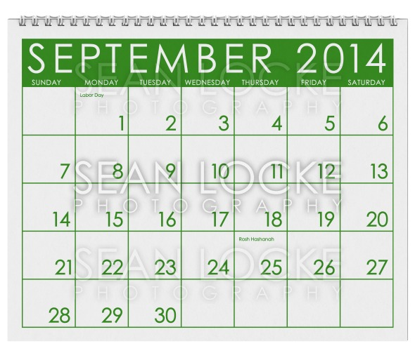 2014 Calendar: September Stock Photography Content by Sean Locke