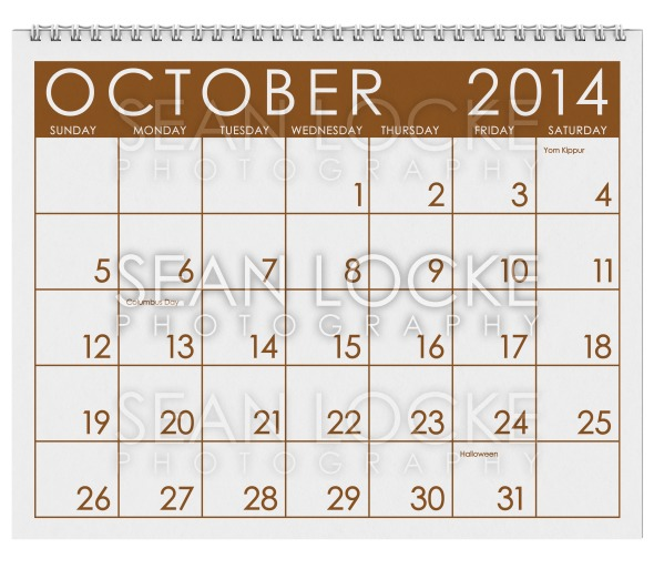 2014 Calendar: October Stock Photography Content by Sean Locke
