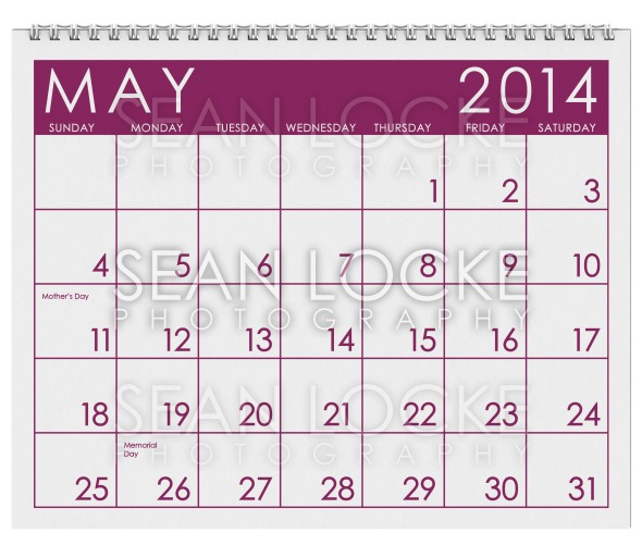 2014 Calendar: May Stock Photography Content by Sean Locke