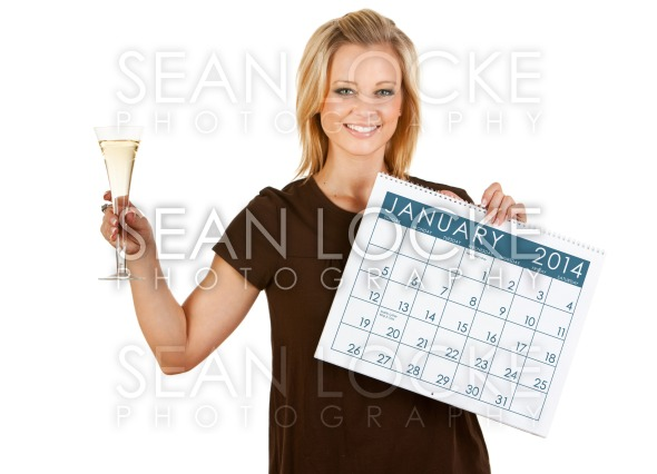 2014 Calendar: Toasting New Year 2014 Stock Photography Content by Sean Locke