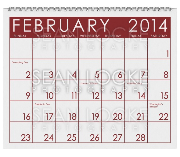 2014 Calendar: February Stock Photography Content by Sean Locke