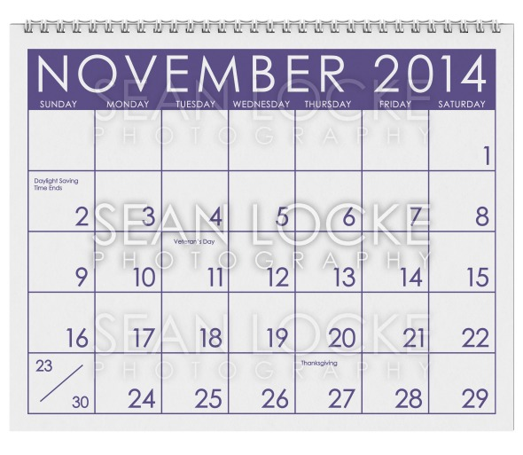 2014 Calendar: November Stock Photography Content by Sean Locke