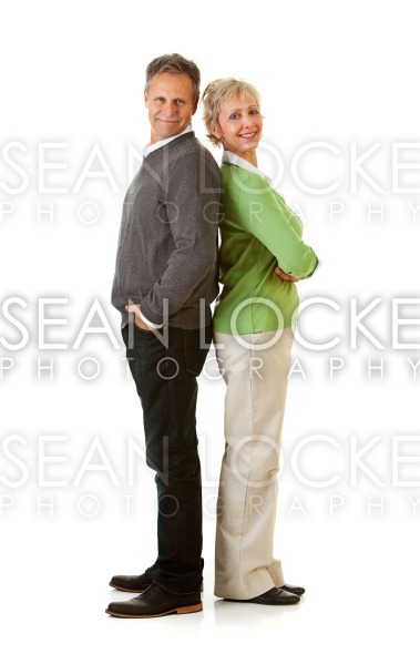 Couple: Man and Woman Standing Back to Back Stock Photography Content by Sean Locke
