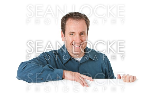 Doctor: Cheerful Man Behind White Card Stock Photography Content by Sean Locke