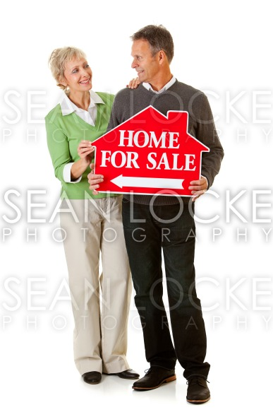 Couple: Couple Selling Their Home Stock Photography Content by Sean Locke