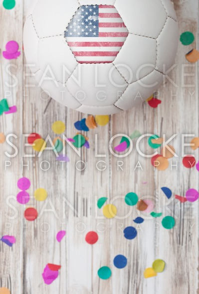 Soccer: United States Background With Confetti Stock Photography Content by Sean Locke