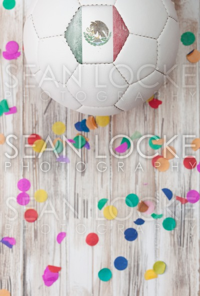 Soccer: Mexico Background With Confetti Stock Photography Content by Sean Locke