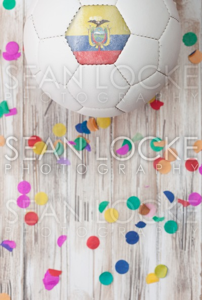 Soccer: Ecuador Background With Confetti Stock Photography Content by Sean Locke