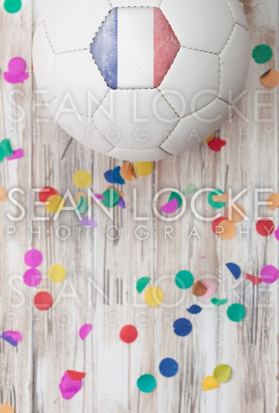 Soccer: France Background With Confetti Stock Photography Content by Sean Locke
