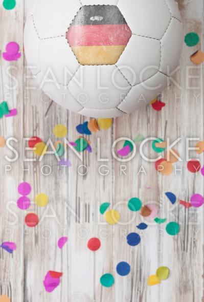 Soccer: German Background With Confetti Stock Photography Content by Sean Locke