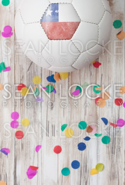 Soccer: Chile Background With Confetti Stock Photography Content by Sean Locke