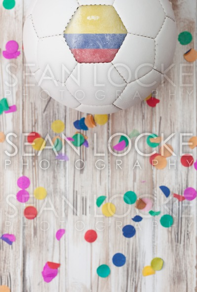 Soccer: Columbia Background With Confetti Stock Photography Content by Sean Locke