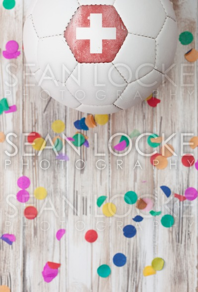 Soccer: Switzerland Background With Confetti Stock Photography Content by Sean Locke