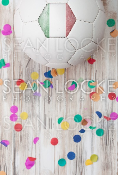 Soccer: Italy Background With Confetti Stock Photography Content by Sean Locke
