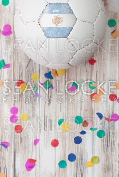 Soccer: Argentina Background With Confetti Stock Photography Content by Sean Locke