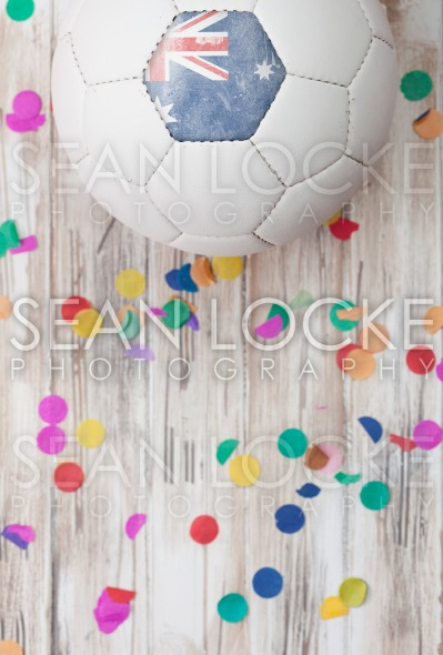 Soccer: Australia Background With Confetti Stock Photography Content by Sean Locke
