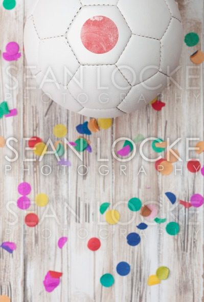Soccer: Japan Background With Confetti Stock Photography Content by Sean Locke