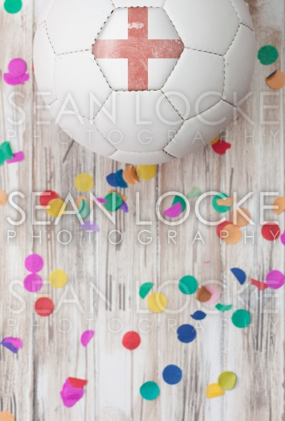 Soccer: England Background With Confetti Stock Photography Content by Sean Locke