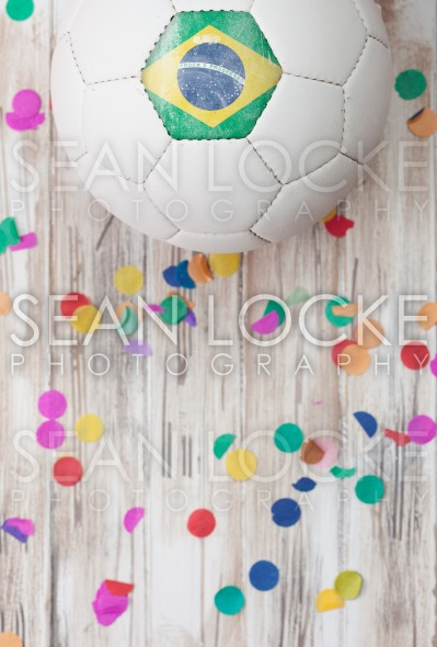 Soccer: Brasil Background With Confetti Stock Photography Content by Sean Locke