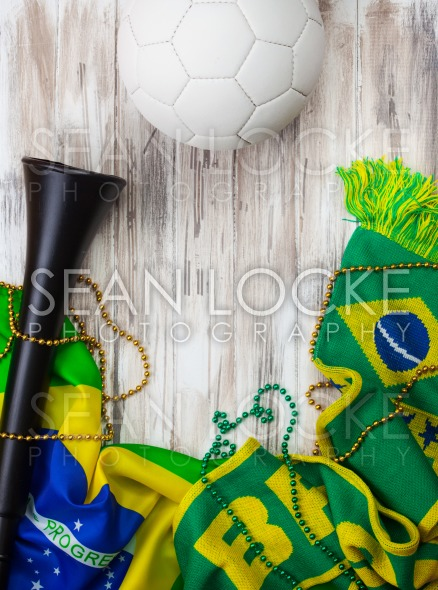 Soccer: Brasil Background For International Competition Stock Photography Content by Sean Locke
