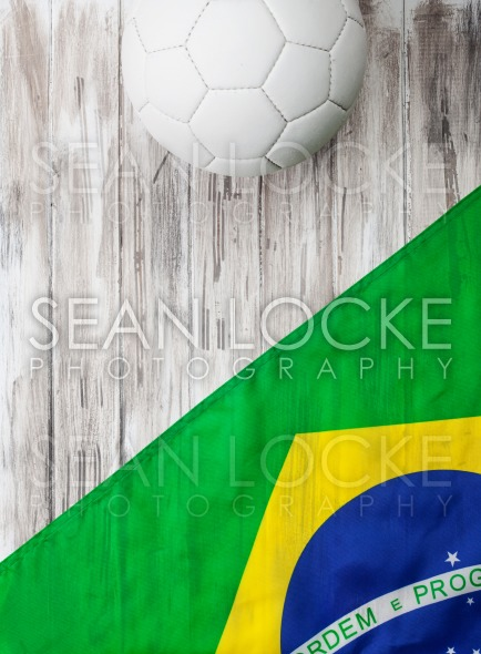 Soccer: Brasil Flag Background For International Competition Stock Photography Content by Sean Locke