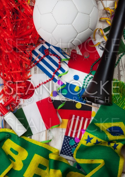 Soccer: Party Background For International Competition Stock Photography Content by Sean Locke