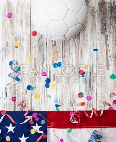 Soccer: USA Party Background For International Competition Stock Photography Content by Sean Locke