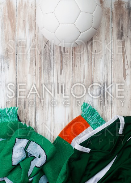 Soccer: Irish Background For International Competition Stock Photography Content by Sean Locke