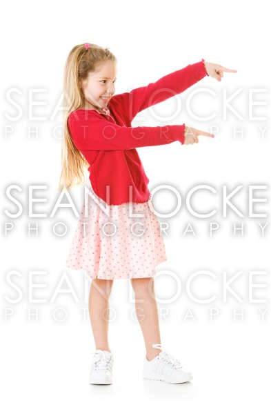 Girl: Young Girl Gestures To Side Stock Photography Content by Sean Locke